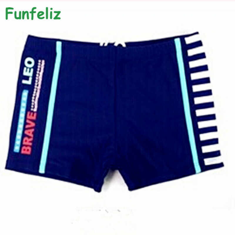 Funfeliz boy swimming trunk 2 colores chico boy swimwear niños 5-15 age chico s boxer swimsuit niños traje de baño