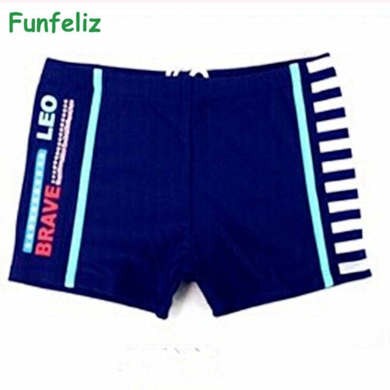 Funfeliz लड़का तैराकी ट्रंक 2 रंग बच्चे लड़का swimwear के बच्चे