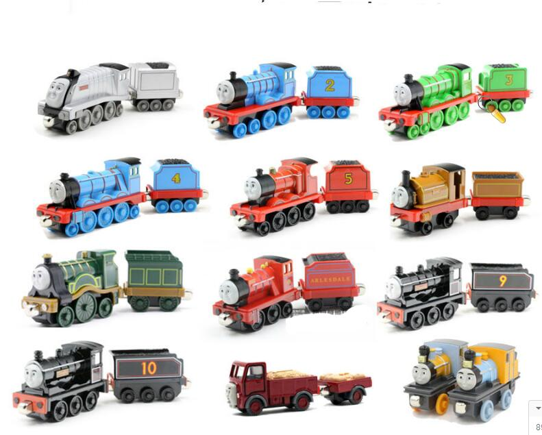 Thomas & Friends --2pcs Locomotive & Tender Diecast Metal Train Megnetic Toy The Tank Engine Trackmaster Toy Gifts For Children
