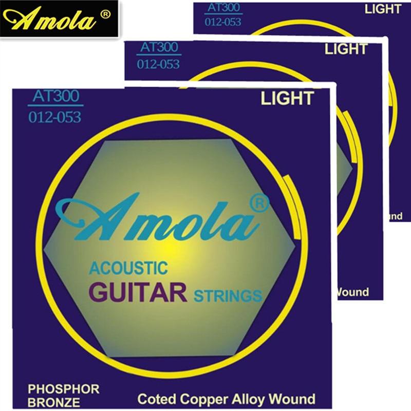Originele Amola AT300 012-053 Akoestische gitaar snaren lichtsnaren voor onderdelen voor akoestische gitaaraccessoires groothandel gitaar