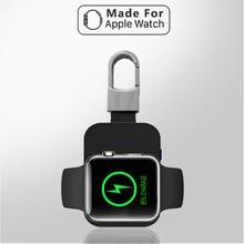 Внешний аккумулятор QI Беспроводное зарядное устройство для Apple Watch 1 2 3 4 серии power Bank 950 мАч портативное наружное мини зарядное устройство