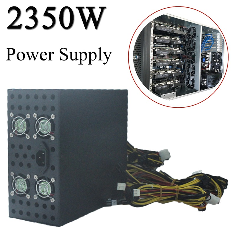 2350W Power Supply For Eth Rig Ethereum Coin Mining Miner Dedicated Machine High Quality Computer power Supply For BTC цена 2017