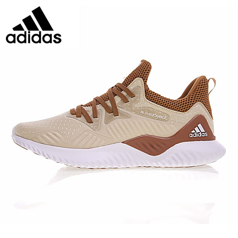 Adidas Alphabounce Beyond Men Running Shoes, Outdoor Sneakers Shoes,Khaki, Non-slip Breathable, Support CP8826 EUR Size M