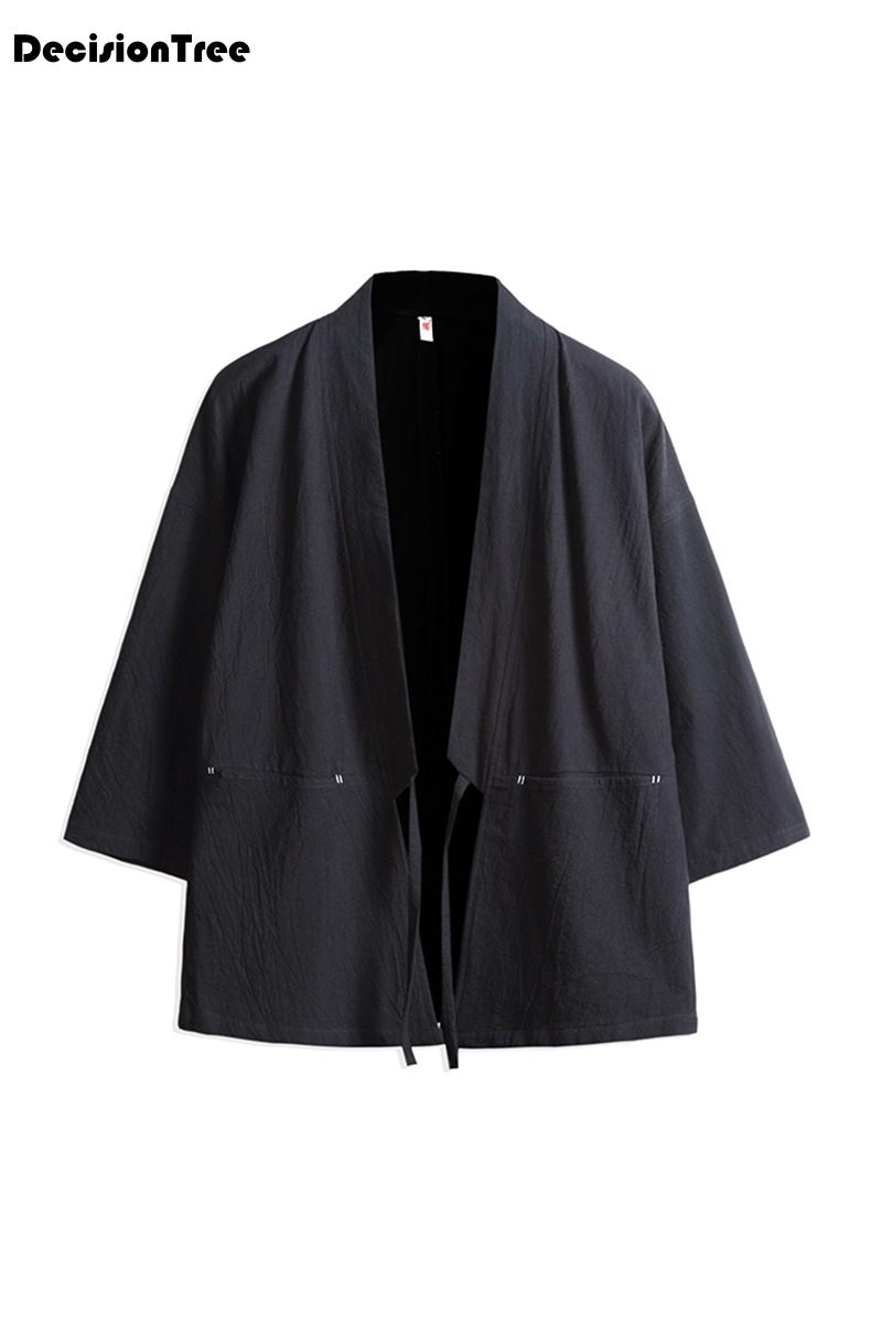 70fcf6a955 2019 new man linen kimono jackets men cotton linen jackets irregular  embroidery kimono chinese tops cardigan hanfu indian out