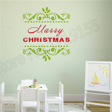 YOYOYU Merry Christmas Poster stickers home decoration  waterproof decal remove vinyl sticker Holiday wall quotes decorationZW46
