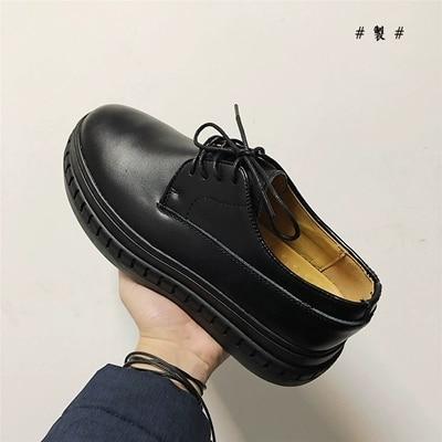 Lace Negros Sapatos De Outono Casuais No Couro Moda Primavera Tornozelo Dos Black Homens Altura up Crescente Nova 8T0UvBw8q