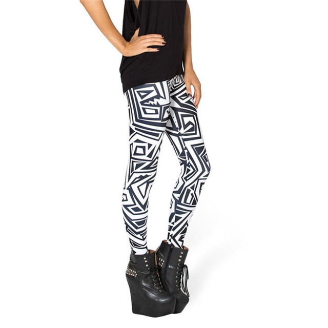 Geometric Black'n'White Leggings