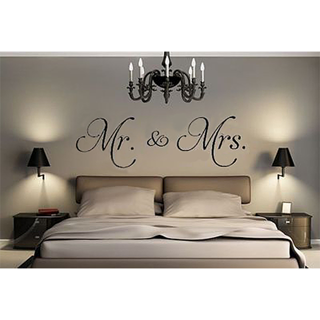 Mr. & Mrs. Vinyl Wandtattoo Wohnzimmer Decor Aufkleber Removable ...