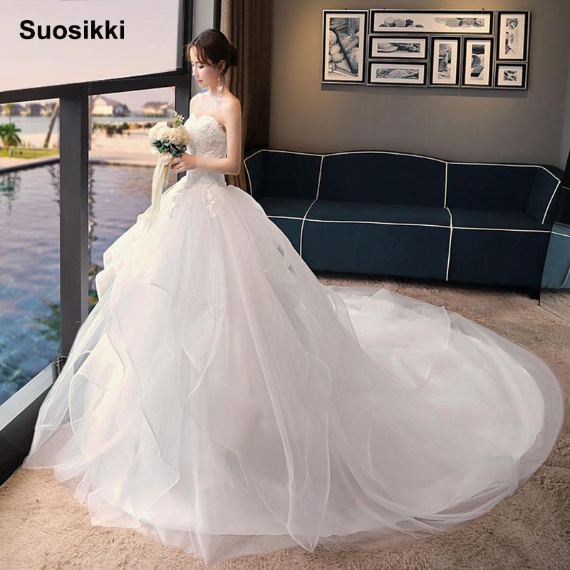 Vestido De Noiva 2018 Princess Wedding Dress Ball Gown Off: Aliexpress.com : Buy Suosikk 2018 Robe De Mariage Princess