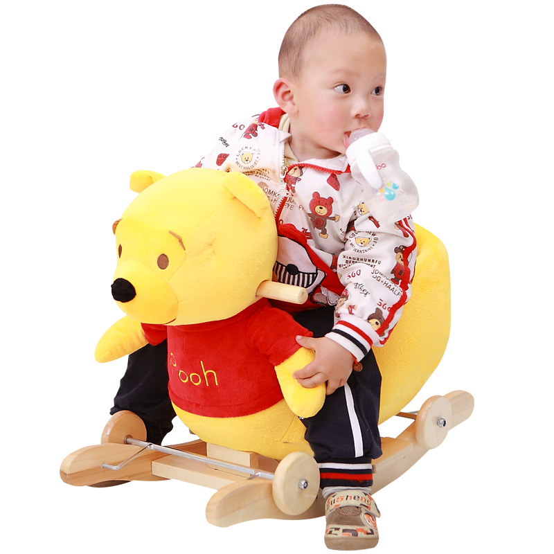Big Baby swing Plush Horse Toy Rocking Chair Baby Bouncer Swing Baby Seat Child Bumper Kid Ride on Toy Fun Rocking Stroller Toy children rocking horse gift baby eating chair music ride on toy cute duck birthday walker amphibious toys 2 kinds of functions