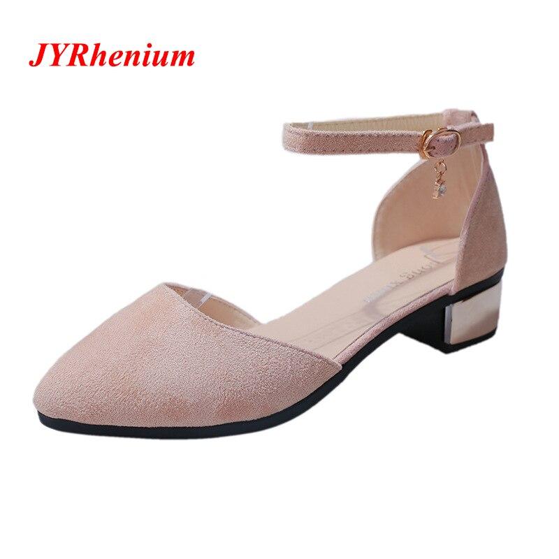 цена JYRhenium 2018 New Autumn Fashion Women Pumps Low Heel Shallow Casual Women Footwear Office Work Heels Elegant Ladies Shoes