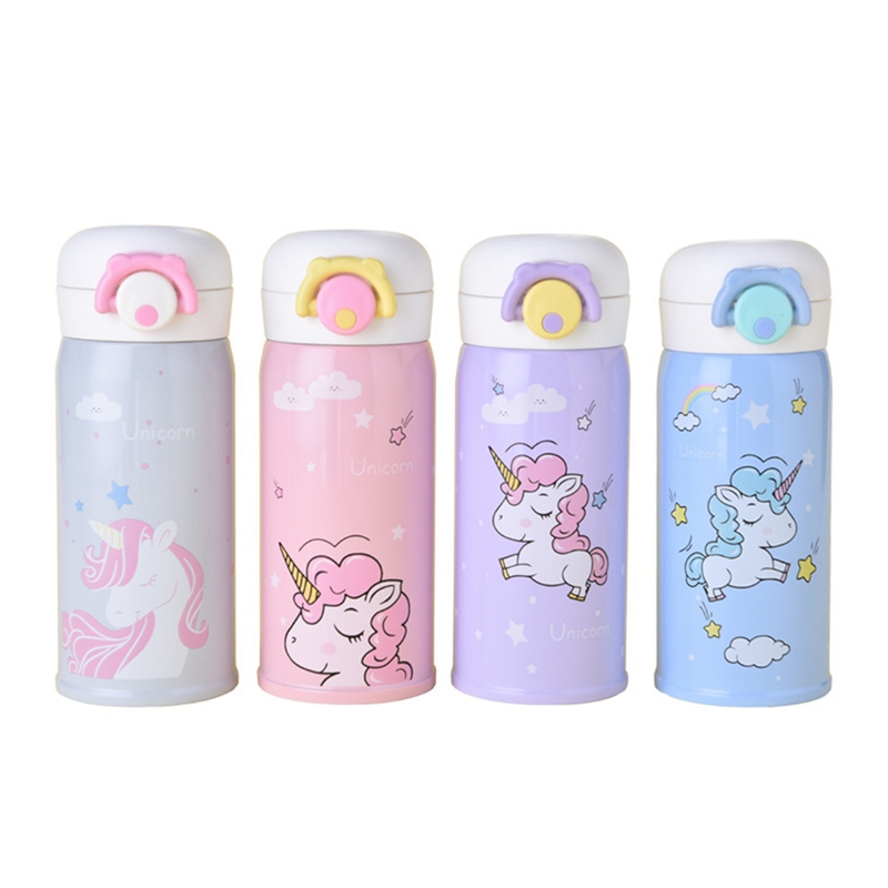 350/500ml New Unicorn Mug With Strainer Thermo Mug Thermos Cute Coffee Cup Stainles Steel Thermal Bottle Termos Unicorn Party