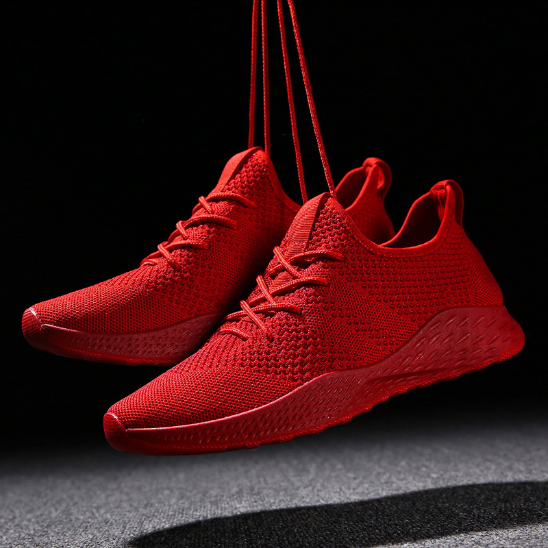 Baideng Mens Red Sneakers Cheap Light