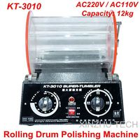KT 3010 Rolling Drum Polishing Machine Jewelry Vibratory Tumbler Barrel Rotary Tumbling Machine Jewelry Polisher Capacity 12kgs