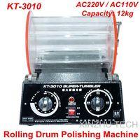 KT 3010 Rolling Drum Polishing Machine Jewelry Vibratory Tumbler Barrel Rotary Tumbling Machine Jewelry Polisher Capacity 12kgs