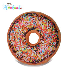 3D 40cm Simulation Doughnut Round Cushion Home Decoration Food Toy Pillows Kids Gift