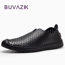 2017 baru musim panas berongga bernapas desain kulit asli pria sepatu kasual sepatu lembut drive slip-on malas loafer