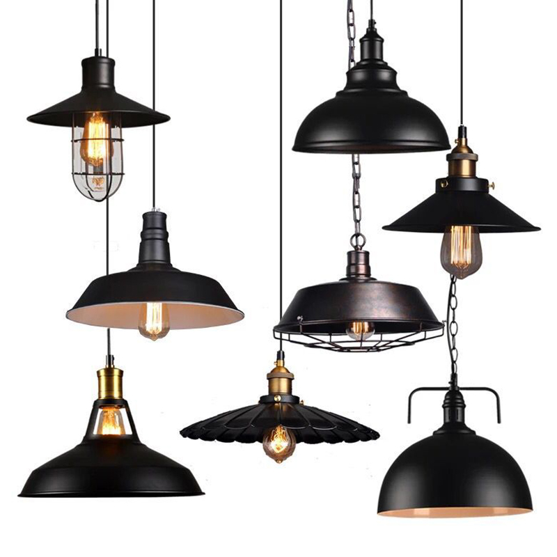 Loft Nordic retro industrial style restaurant chandelier creative personality bar bar iron bird cage art small chandelier