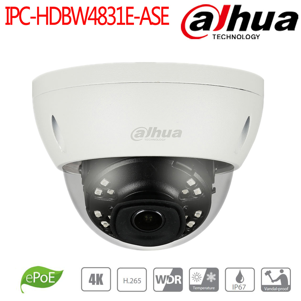 Dahua 8MP IR mini Dome Network Camera alarm audio in/out POE Smart Detection cctv video surveillance