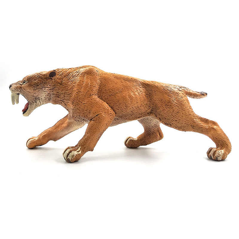 Имитация зубчатого тигра модель животного фигурная фигурка домашний декор