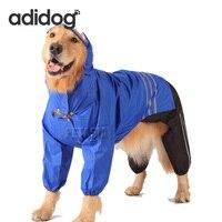 2017 개 비옷 큰 큰 개 방수 옷 코트 재킷 방풍 분리 애완 동물 개 의류 2XL 사이즈 겨울 허스
