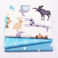 100% Cotton Fabric For Patchwork Sewing Textiles 40* 50 cm Pillow 3 pcs Bedding Bags Body Cloth