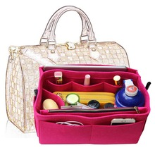 Exclusive Speedy Bag in bag customization MultiPocket Felt Handbag Organizer,Purse Insert Organizer with Handles