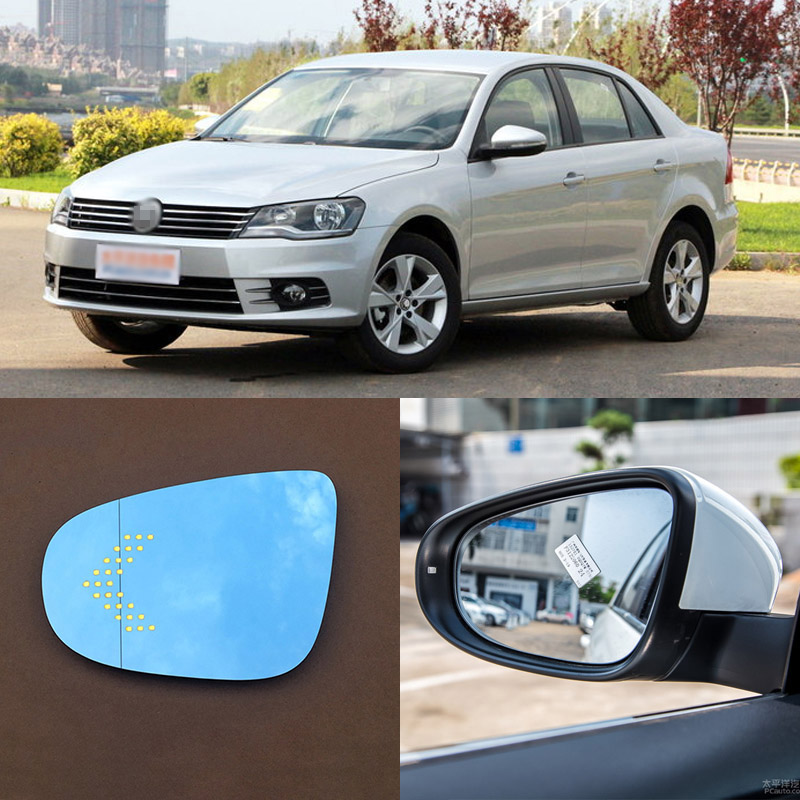 For Volkswagen Bora 2008-2015 Brand New Car Rearview Mirror Blue Glasses LED Turning Signal Light with Heating for volkswagen sagitar brand new car rearview mirror blue glasses led turning signal light with heating