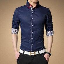 Fashion Slim Man Korean Men 's Brand Clothing Casual Office Cotton Shirt Camisa Social Masculina Tommis