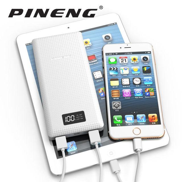 Original Pineng Power Bank 20000mAh PN-969 External Battery Pack Powerbank 5V 2.1A Dual USB Output for Android Phones Tablets 3