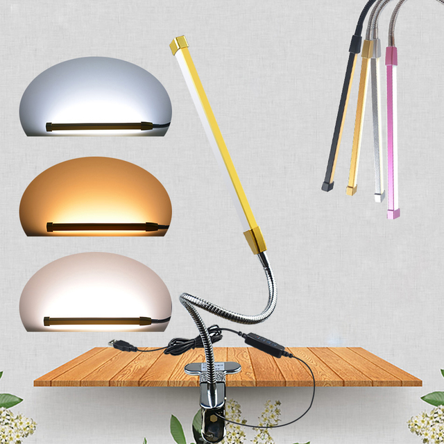 Usb Led Book Light With Clip Student Lamp Eye Protection Reading