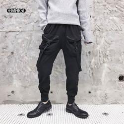 Для мужчин уличной хип-хоп шаровары Штаны модные Повседневное брюки с большим количеством карманов джоггеры пот Штаны мужской