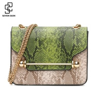 SEVEN SKIN New Fashion Women Small Bags PU Leather Serpentine Crossbody Bag Luxury Lady Barbell Shoulder