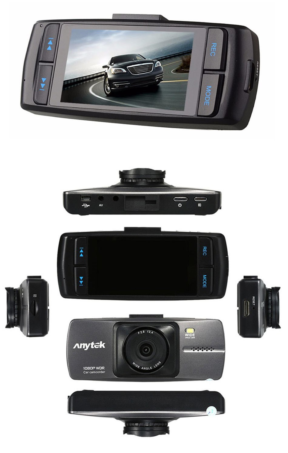 Anytek Dash Cam A88 2.7 Inch DVR Full HD 1080P Car Camera Novatek 96220 Parking Monitor Registrator Video Recorder Night Vision DVRS -06