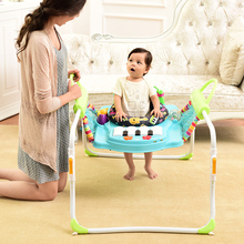 Children walkers baby walkers multi-function side double step with music baby walkers help bounce