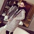 2016 New Winter Gray Parkas Thick Outerwear Women Jacket Hooded Women's Long  Coat Cotton Jacket Parka Casaco Plus Size XL YY248