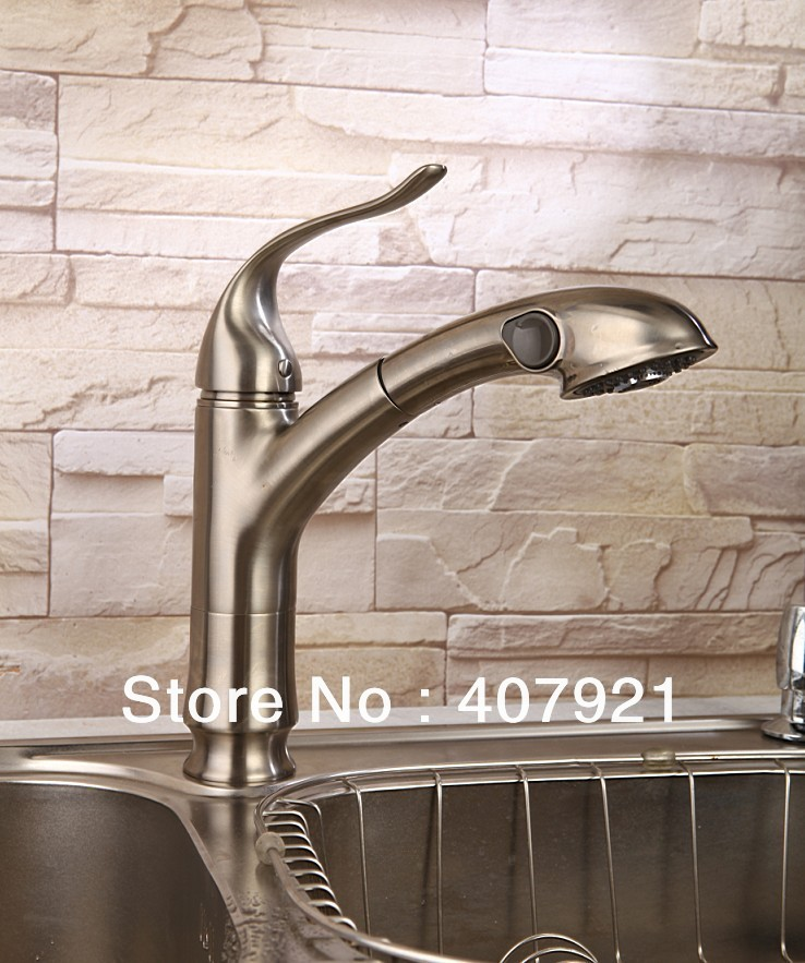 Free shipping brushed nickel (stainless steel) finish pull out ...