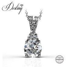 Destino de la Joyería Adornado con cristales de Swarovski collar de 925 joyas de plata colgante DP0108