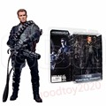 "Neca Terminator 2 Judgment Day T-800 T-1000 Endoskeleton Cyberdyne Showdown Steel Mill 7"" Action Figure NE009005A NE009005B"
