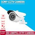Branco sony 1200tvl cctv com ir-cut filter 36 pcs leds ir lente varifocal 3.6mm exterior/interior câmera de segurança cctv à prova d' água