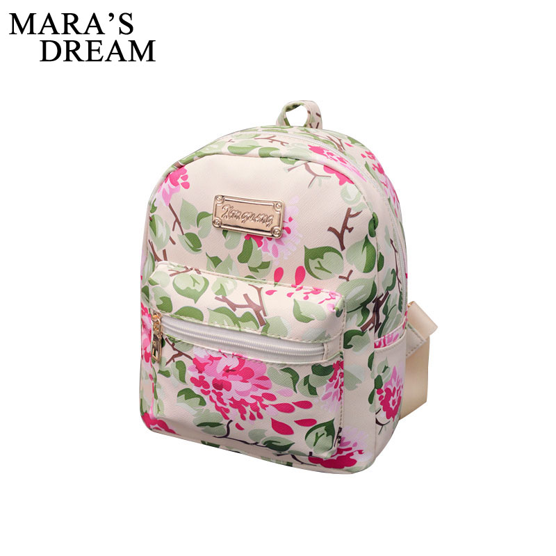 Mara's Dream 2018 New Printing Backpack School Bags For Teenagers PU Leather Women Backpacks Girls Travel Bag Female Mochila women bag backpacks female genuine leather backpack women school bags for teenagers girls travel bags rucksack mochila femininas