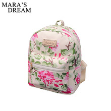 Mara's Dream 2018 New Printing Backpack School Bags For Teenagers PU Leather