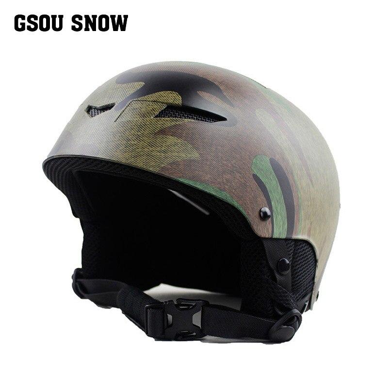Gsou casque de ski hommes snowboard casque ski barre femmes skihelmet casco esqui casque ski homme léger
