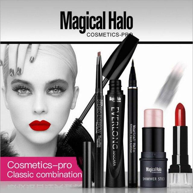 2016 Magical Halo Makeup Set mica Eye shadow Palette Matte Naked Eye Makeup Nude Eye Shadow Cosmetic Brush set maquillaje