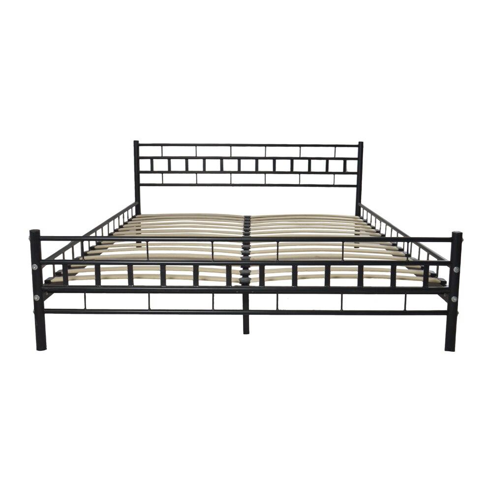 King Размеры рамка металлическая кровать с ламелей дропшиппинг