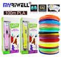 myriwell RP-100B 3d printing pen 100m or 200m 1.75mm PLA filament for kids birthday gift education hobbies toys 3d printer pen