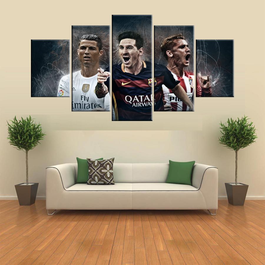 Rahmen Poster Fußball weltmeisterschaft Barcelona Atletico Madrid ...
