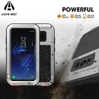 LOVE MEI For Galaxy S 8 Phone Cases Powerful Cover For Samsung Galaxy S8 G950 Shockproof