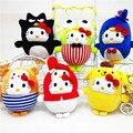 Super Kawaii 6pcs/set Hello Kitty Plush Dolls Cute 20cm Cartoon Cat Soft Stuffed Animals Toy Kids Bbay Toys Girls Birthday Gifts