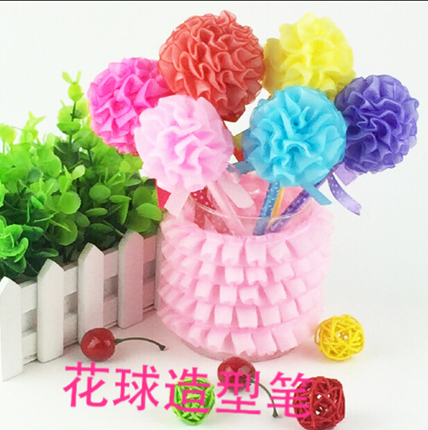 Wholesale 23cm Manual organza ball flower pen flower ball series ...